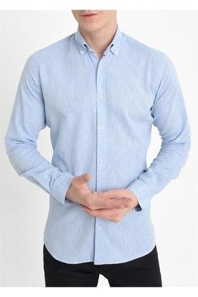 Efor G 1396 Slim Fit Mavi Spor Gömlek