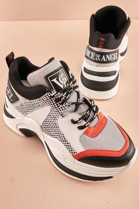 Bambi Gri Kadın Sneaker K0639175822