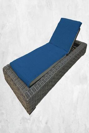 Upline Chaise Lounge Gece Mavisi (şezlong Havlusu) Plaj Havlusu (69x208)