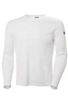 Helly Hansen Tech Crew Erkek Uzun Kollu T-shirt Beyaz