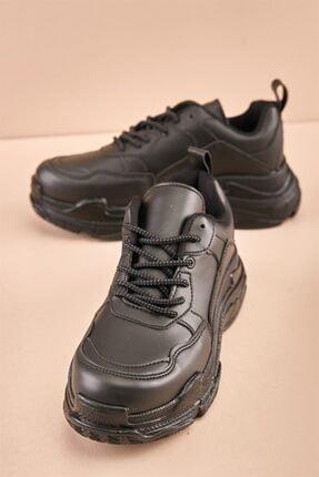 Bambi Siyah Kadın Sneaker K0591007209