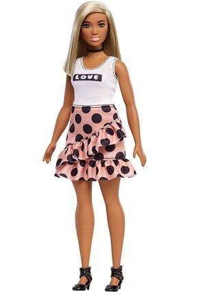 Barbie Fashionistas Bebek ve Aksesuarları Sarışın , Puantiyeli Etekli  FXL51-FBR37