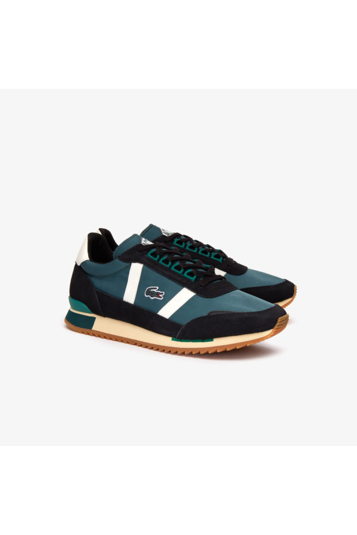 Lacoste Partner Retro 319 1 Sma Erkek Koyu Yeşil - Bej Sneaker 2