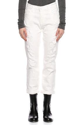 Current Elliott Current Elliot Yamalı Beyaz Jean Pantolon