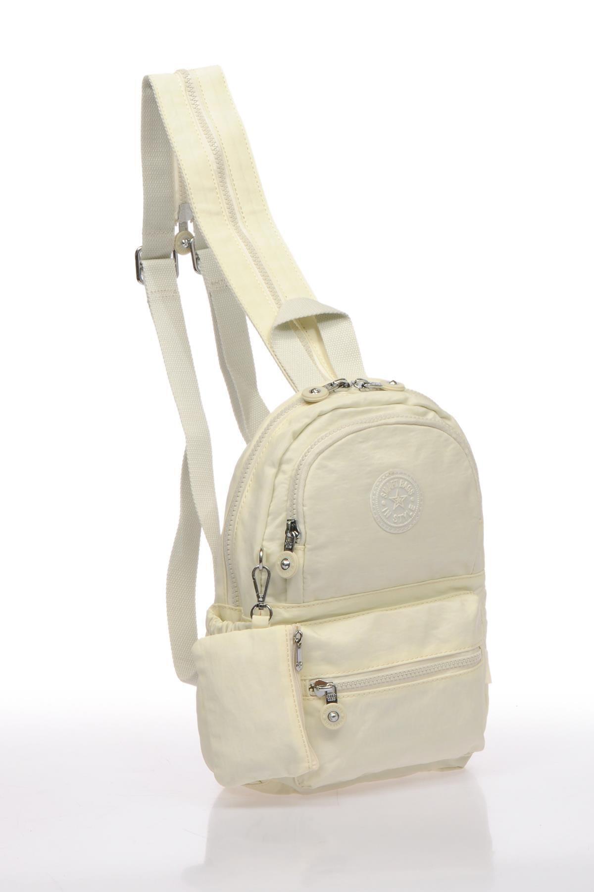 SMART BAGS Smb1030-0002 Beyaz Kadın Küçük Sırt Çantası 2