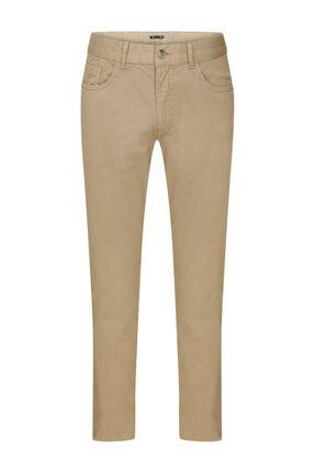 W Collection Bej 5 Cep Pamuk Pantolon
