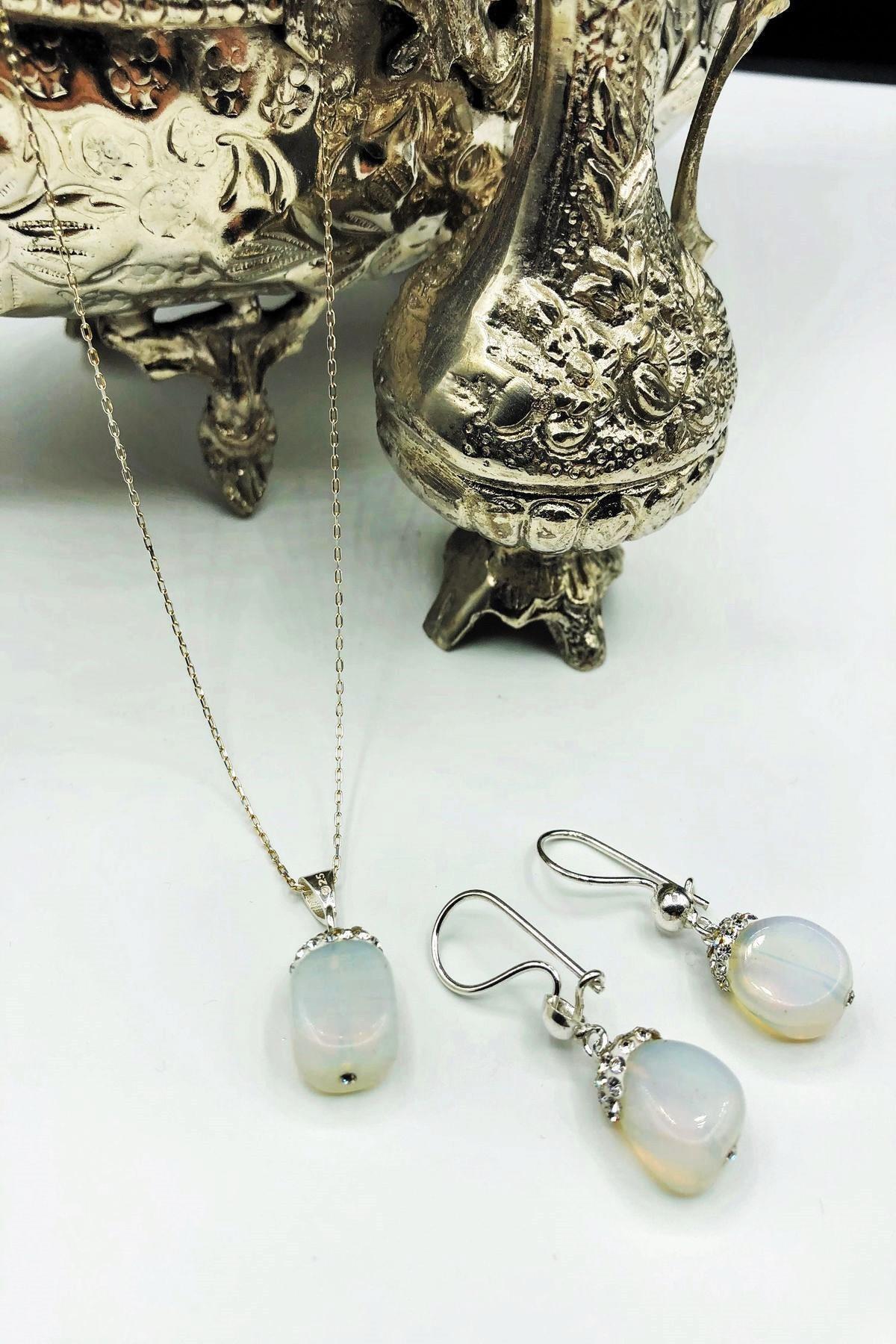 Dr. Stone Dr Stone Harem Koleksiyonu Aytaşı El Yapımı 925 Ayar Gümüş Set Gdr15 1