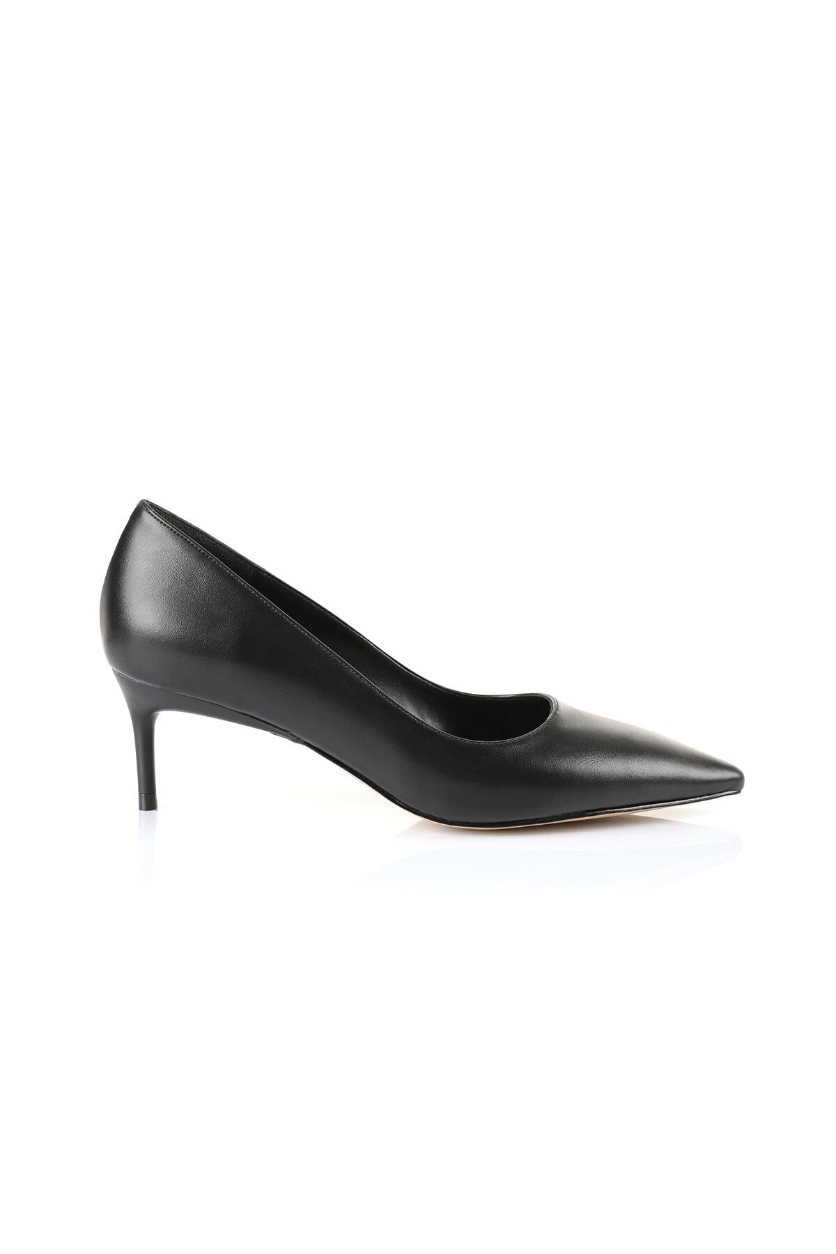 Oblavion Lenna Siyah Kısa Topuk Stiletto 1