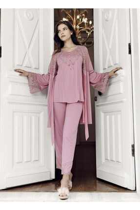 Artış Kadın 3 Lü Sabahlık Pijama Takımı 7303