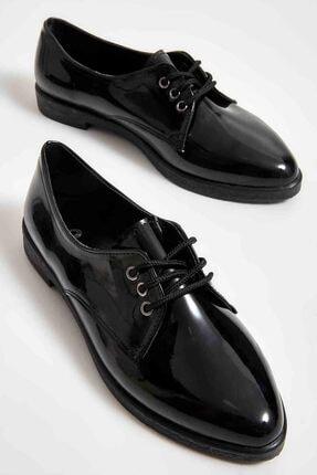 Bambi Siyah Kadın Loafer Ayakkabı M06411710