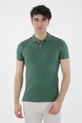 Jakamen Haki Slim Fit Polo Yaka T-shirt