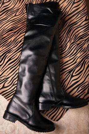 Bambi Siyah Kadın Çizme K0503306009