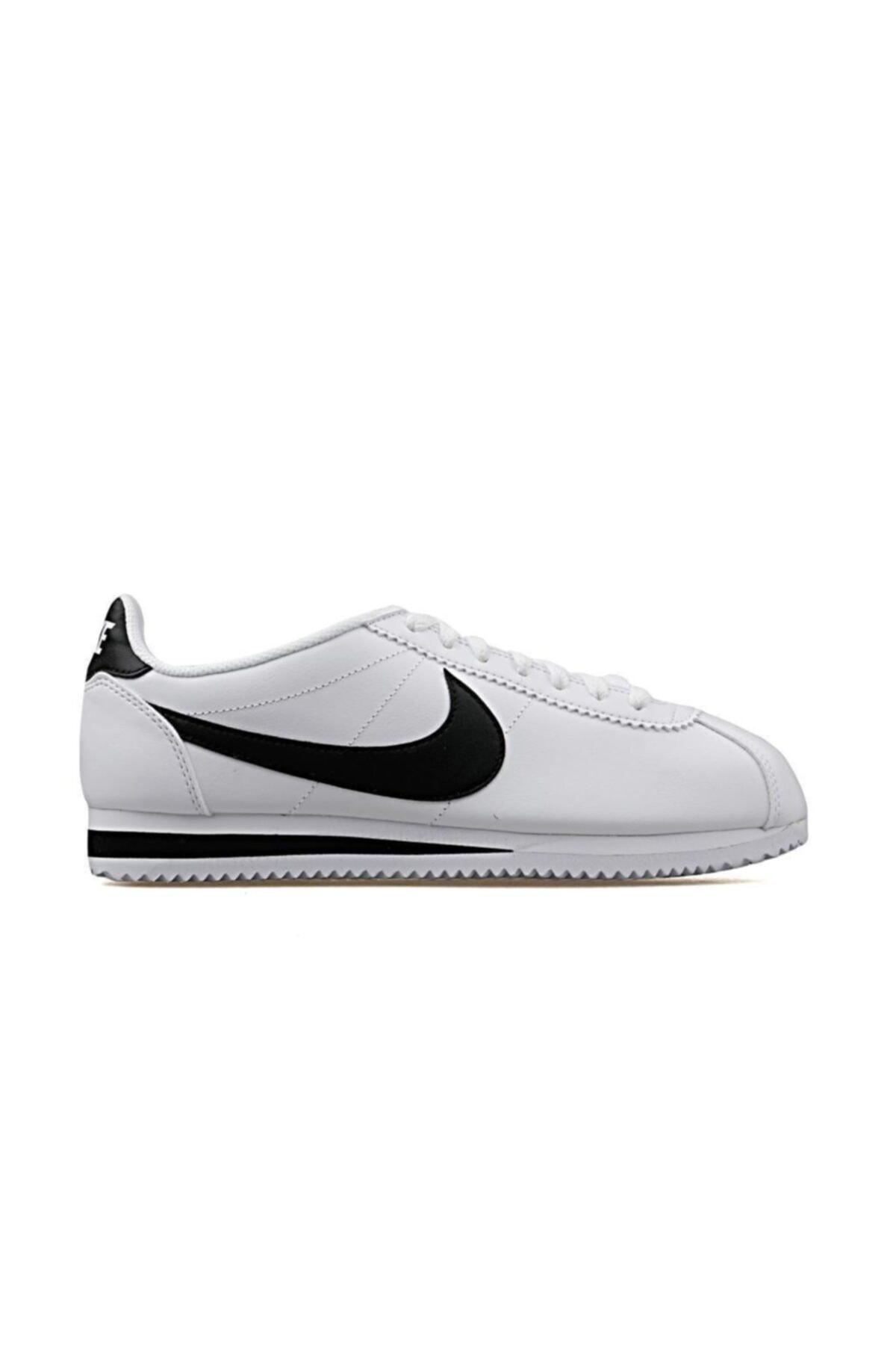 Nike Classic Cortez Leather Kadın Beyaz Spor Ayakkabı 807471-101 1