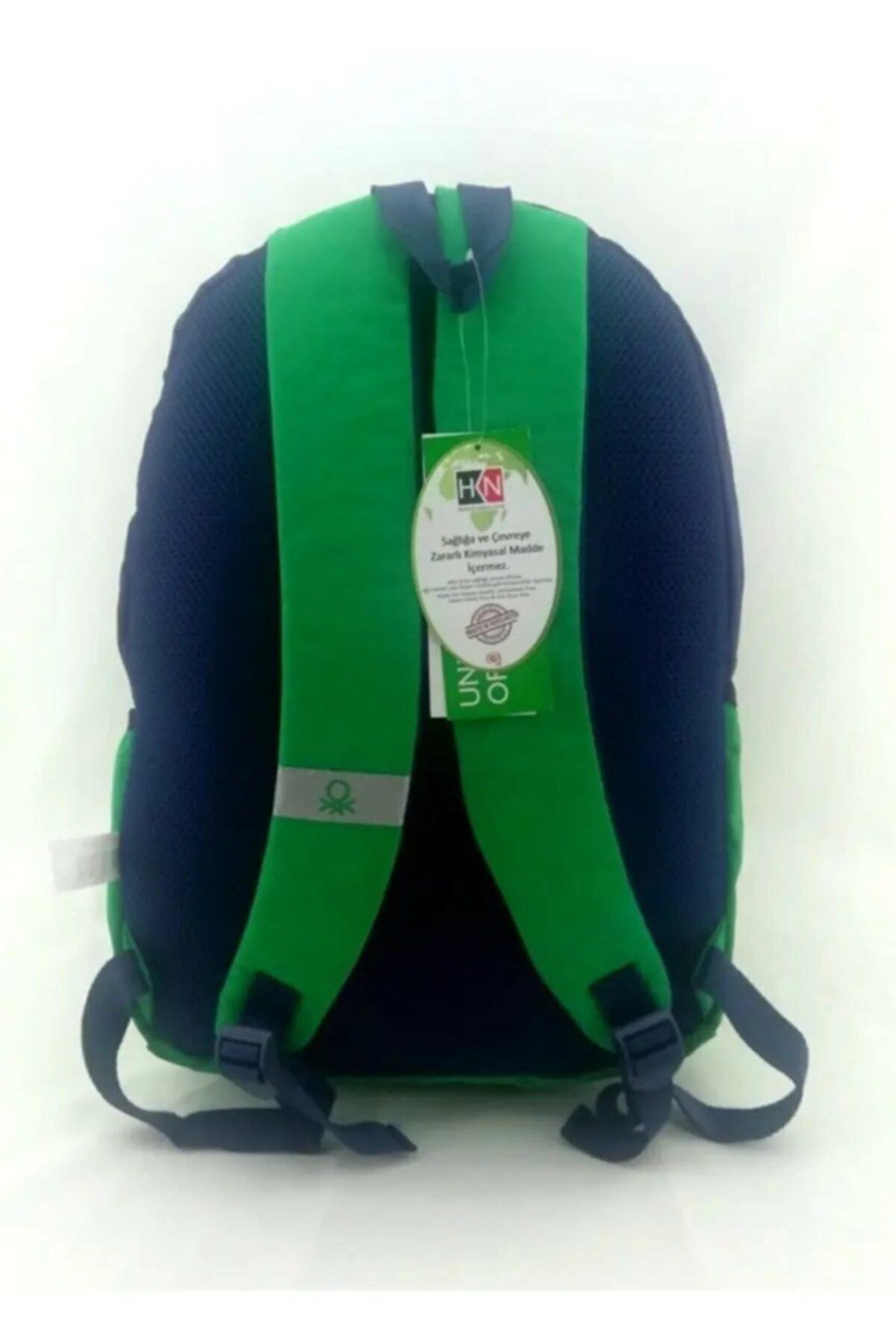 Benetton Lisanslı Okul Ve Spor Sırt Çantası + Tritan Sporcu Matarası Kilitli Kapak 2