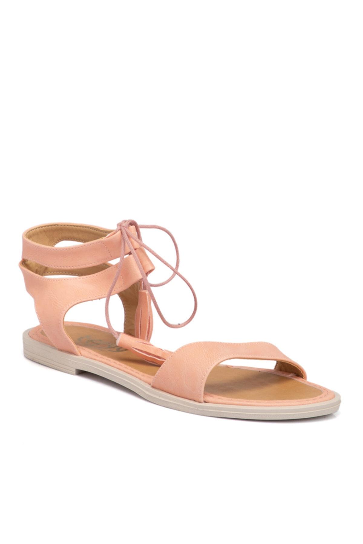 Tergan Pembe Vegan Kadın Sandalet 210138q2q 1