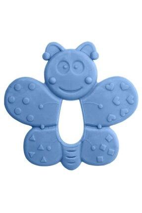 Bambino Kauçuk Yumuşak Diş Kaşıyıcı - Kelebek Figürlü Mavi