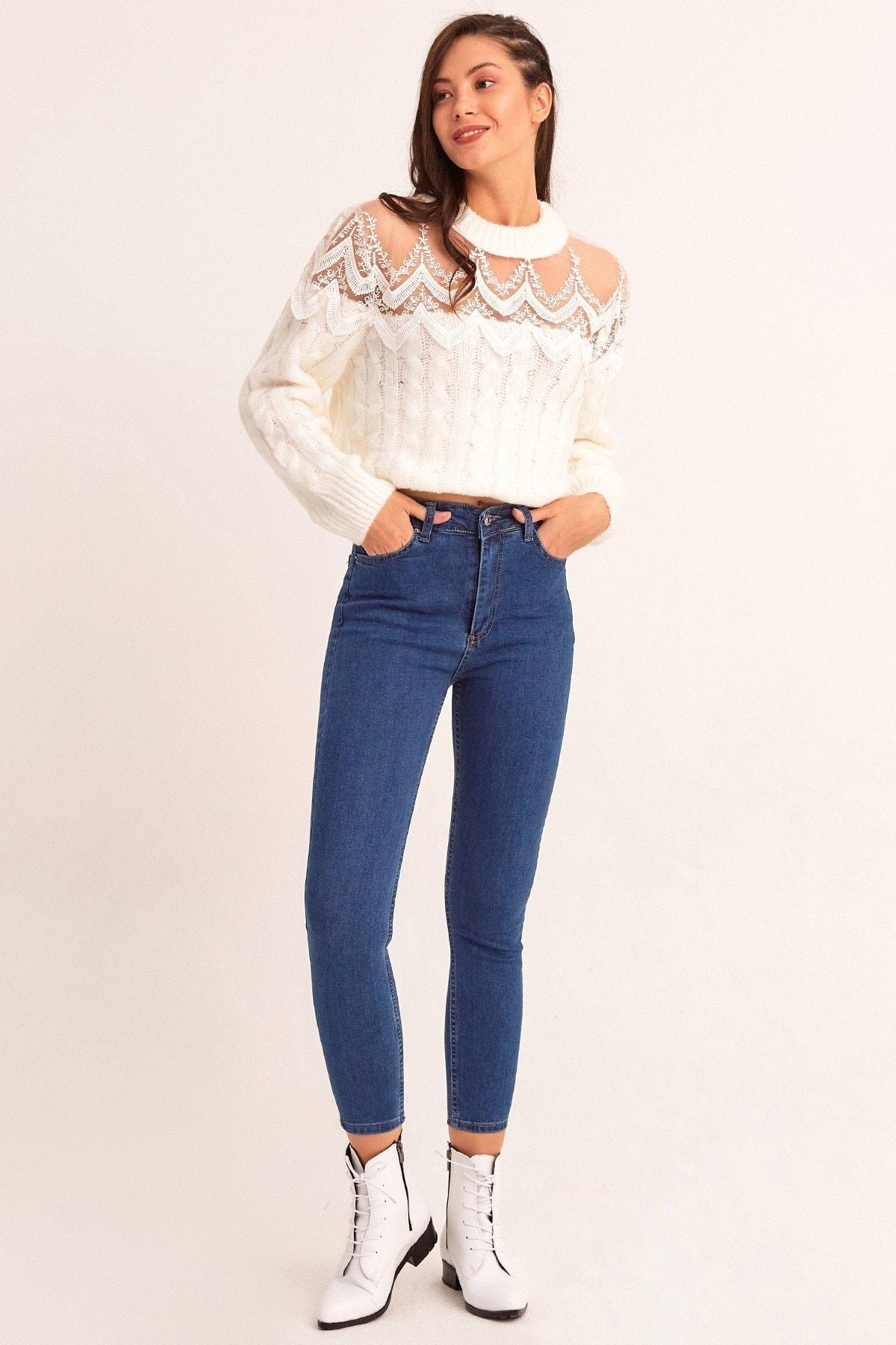 Fulla Moda Yüksek Bel Dar Paça Jean 1