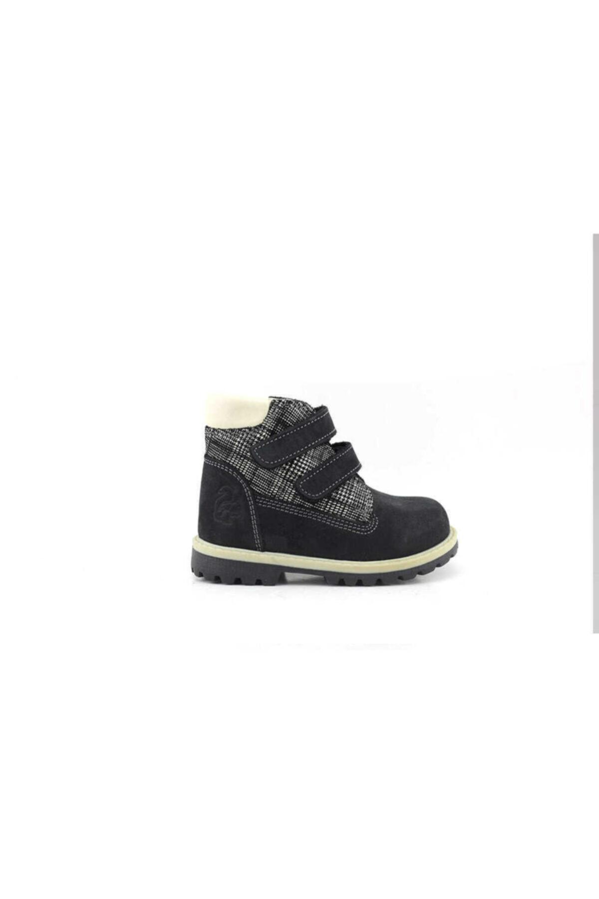 Toddler B5001 Hakiki Deri Bebek Botu-nubuk Siyah Kamuflaj 1