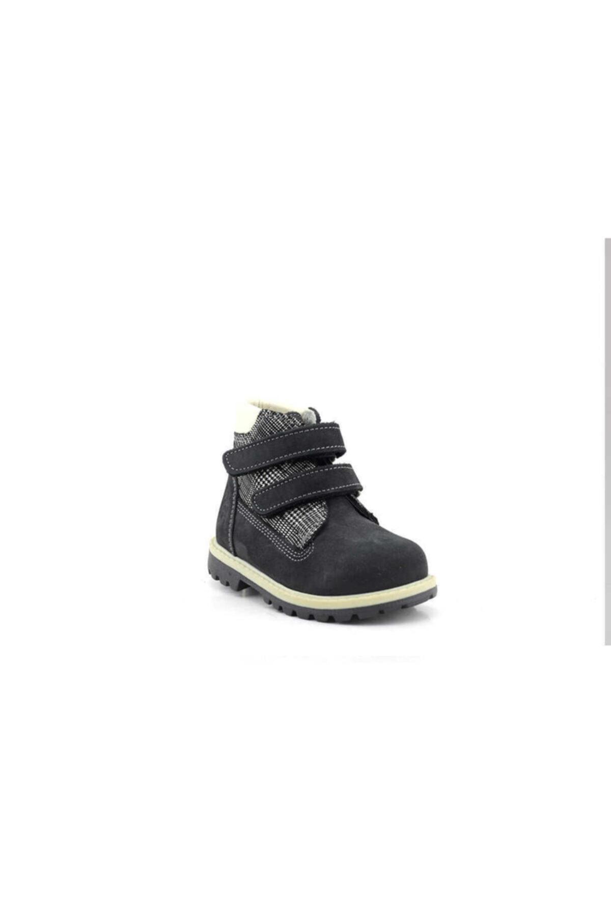 Toddler B5001 Hakiki Deri Bebek Botu-nubuk Siyah Kamuflaj 2