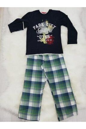 Wonder Kıds Erkek Çocuk Lacivert Pijama Takım