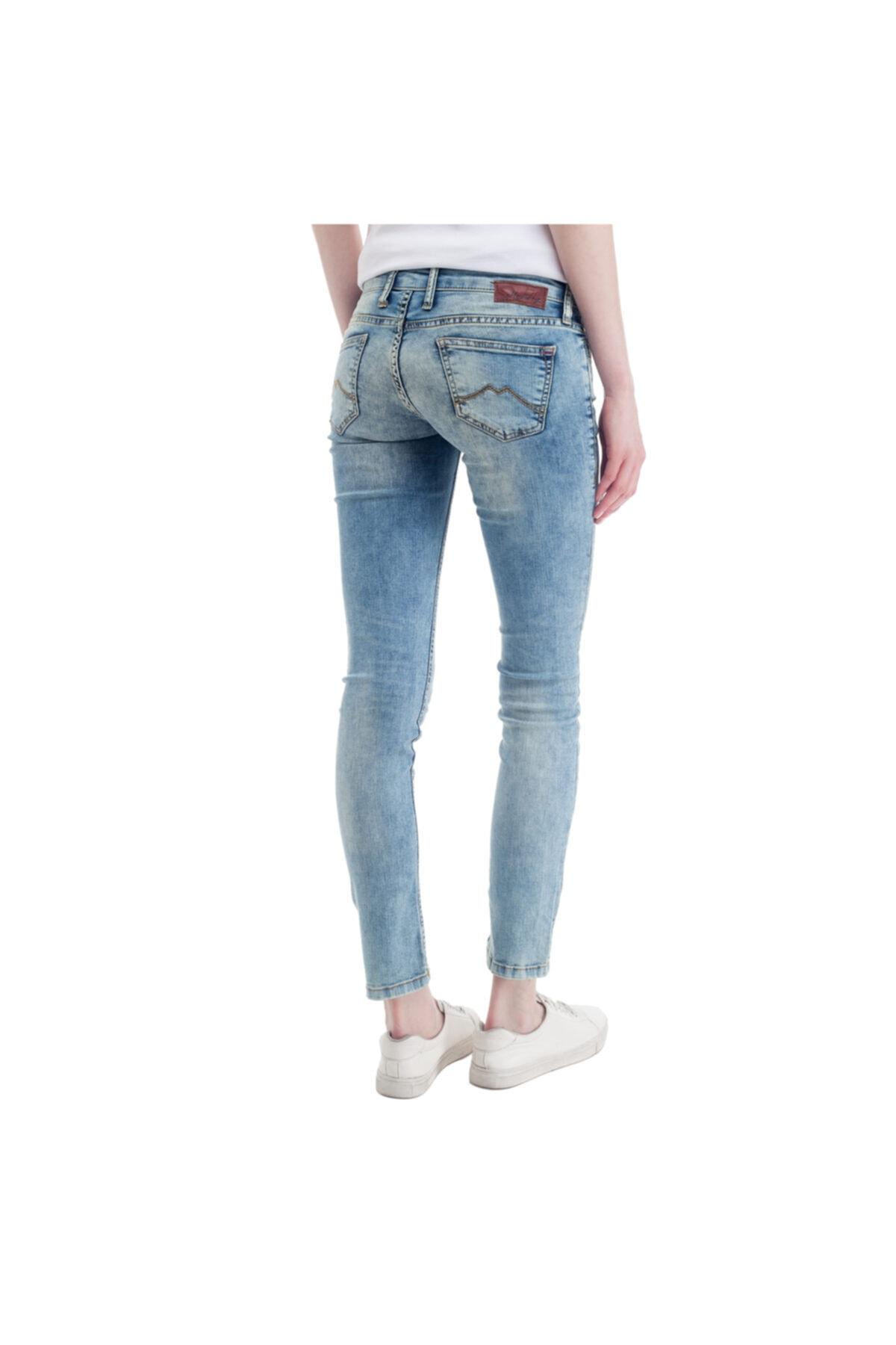Mustang Gina Skinny Kadın Jean Pantolon Mavi 2