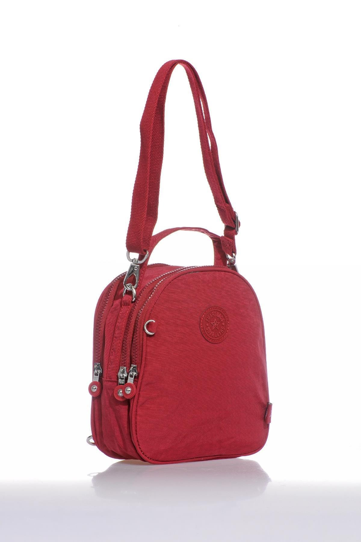 SMART BAGS Smb3063-0021 Bordo Kadın Sırt Çantası 2
