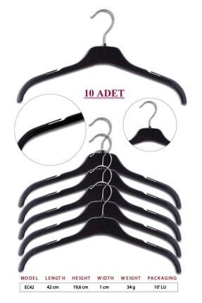 TENA MODA Unisex Siyah Kıyafet Elbise Gömlek Askısı 10 Adet