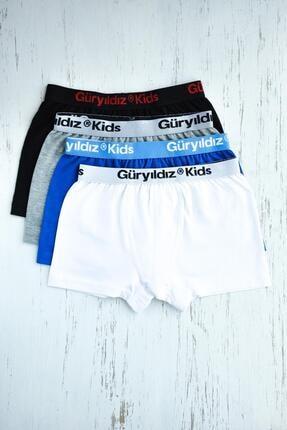 ORBİS 4'lü Erkek Çocuk Düz Likralı Boxer 28401-b4