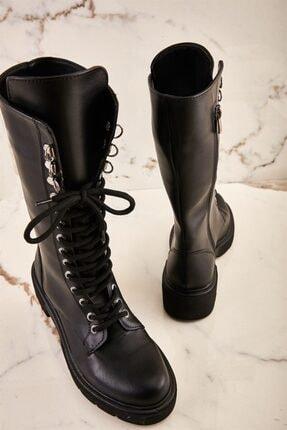 Bambi Siyah Kadın Çizme K06521111