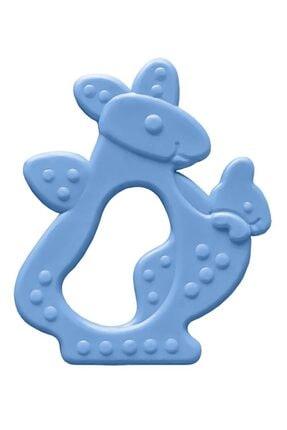 Bambino Kauçuk Yumuşak Diş Kaşıyıcı - Kanguru Figürlü Mavi