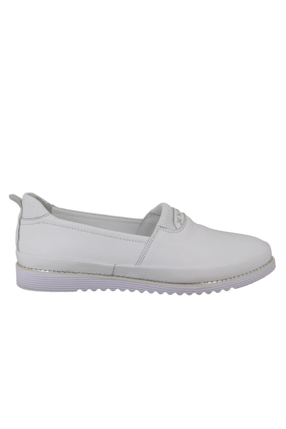 Hobby Divadonna Beyaz Deri Günlük Kadın Ayakkabı 8672 1