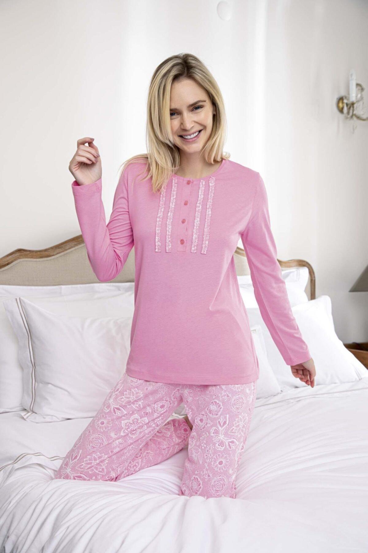 Aydoğan Kadın Modal Uzun Kollu Pijama Takımı 1