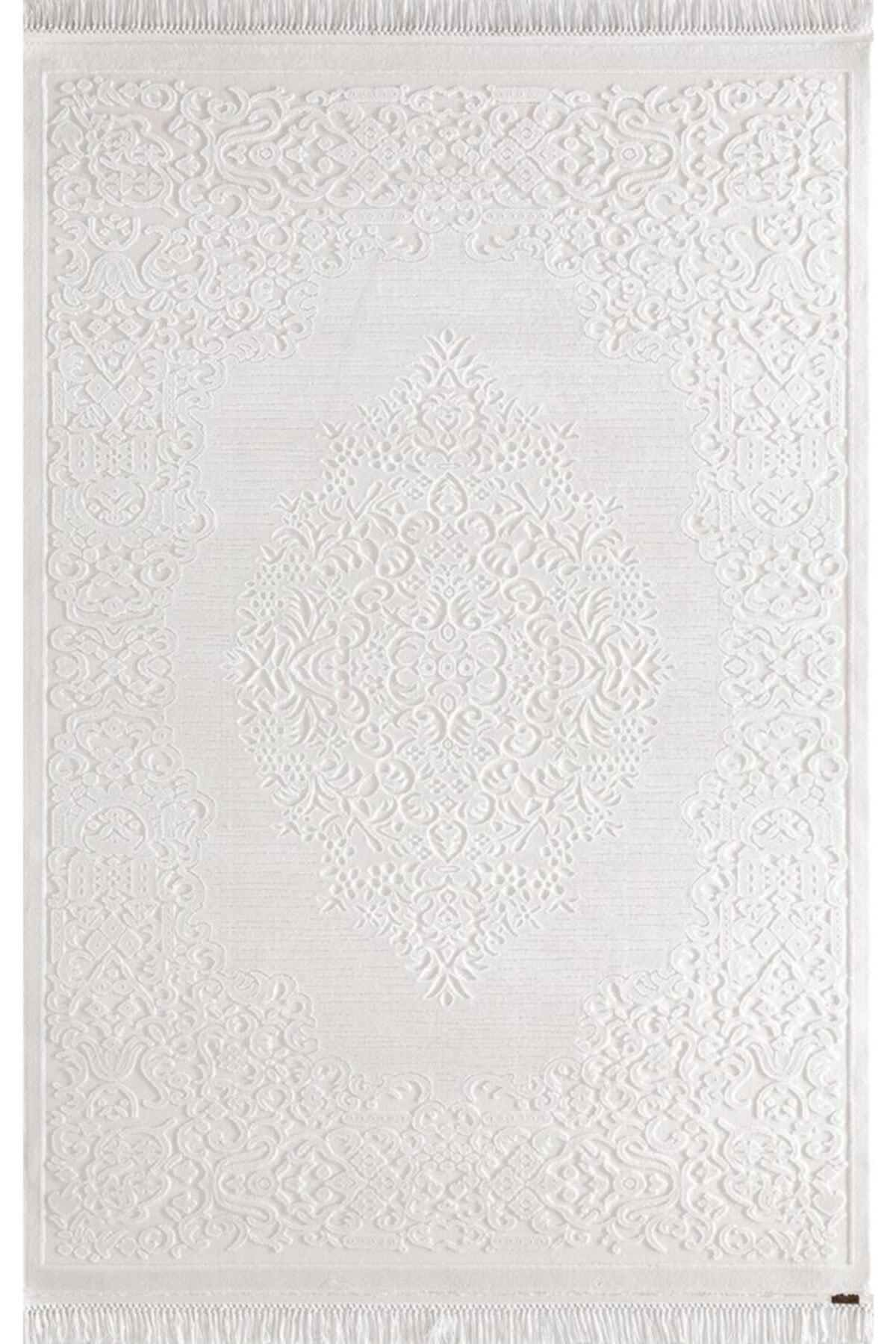 Karmen Halı Hünkar Salon Halısı 7904 Beyaz 1