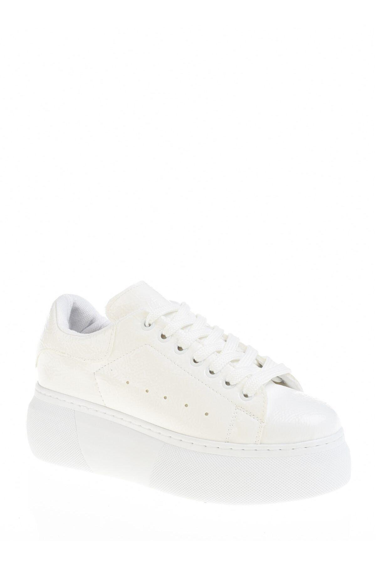 Derigo Beyaz Kadın Günlük Ayakkabı 395011 1