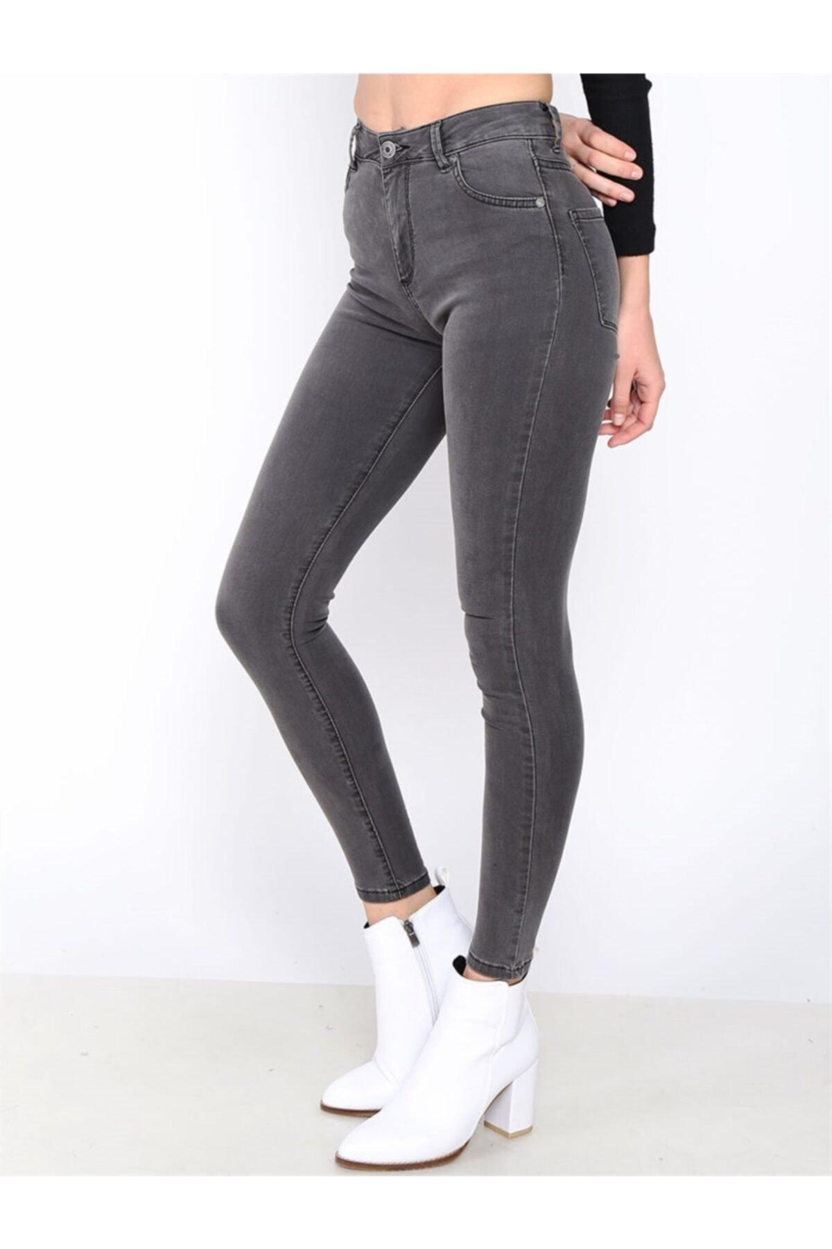 Twister Jeans Kadın Slim Fit Çok Yüksek Bel Pantolon Eva 9028-37 37 2