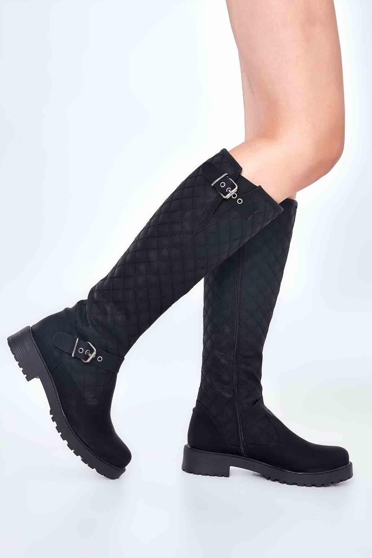 Bambi Siyah Kadın Çizme M0510440109 1