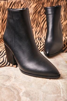 Bambi Siyah Siyah Kadın Bot & Bootie K0718152609