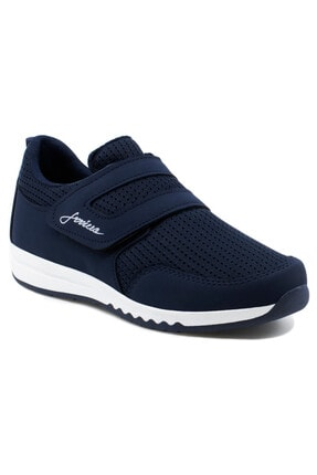 LETAO Bayan Lacivert Rahat Hafif Cırtlı Günlük Yürüyüş Spor Ayakkabı
