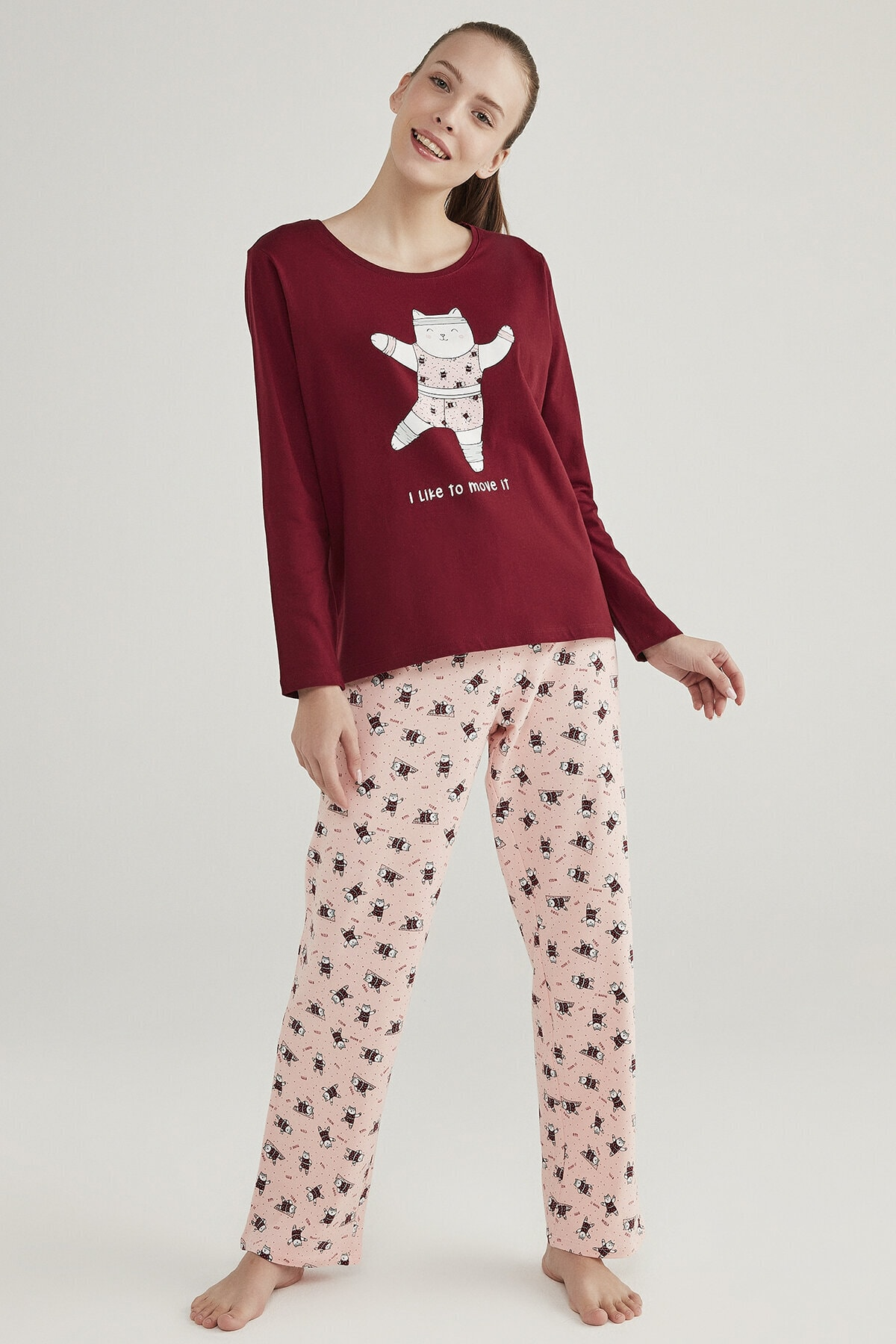 Penti Çok Renkli Gym Cat Pijama Takımı 1