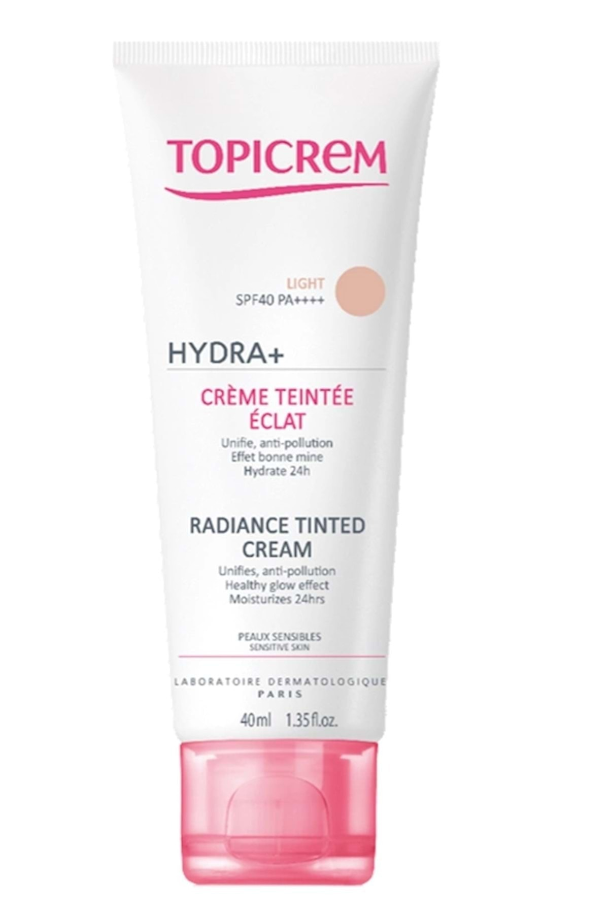 Topicrem Hydra+ Radiance Tinted Light Spf40 Cream 40ml 1