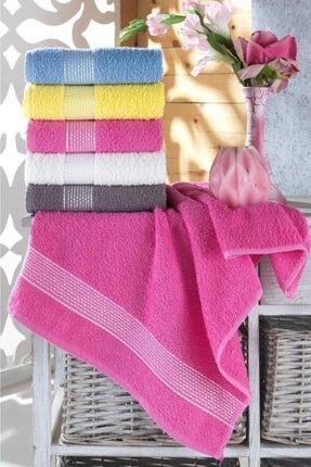 Zeynep Tekstil Stripe 5'li 50x90 Cm El & Yüz Havlu Seti | %100 Pamuk
