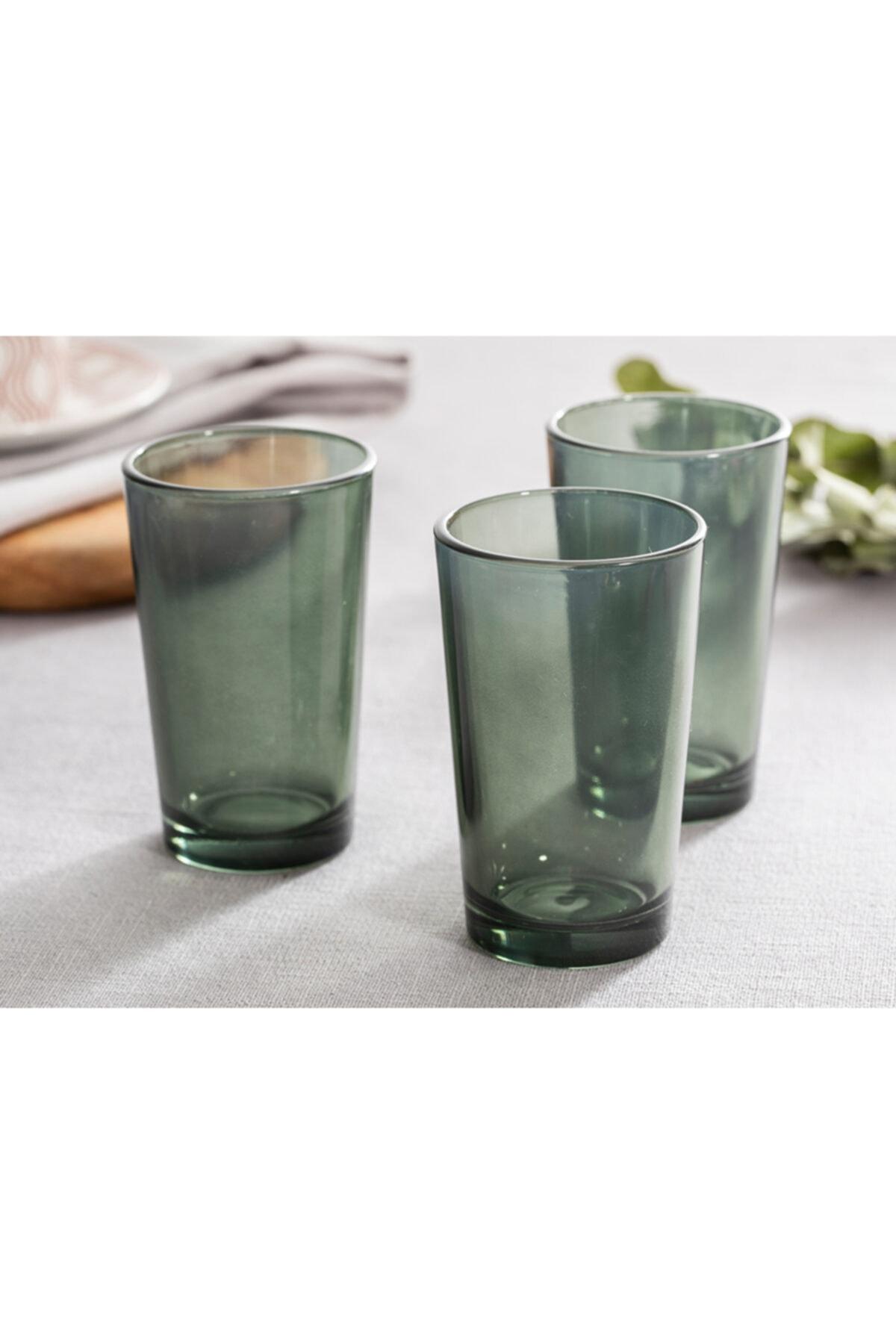 English Home Pia Cam 6'lı Kahve Yanı Su Bardağı 100 Ml Yeşil 2