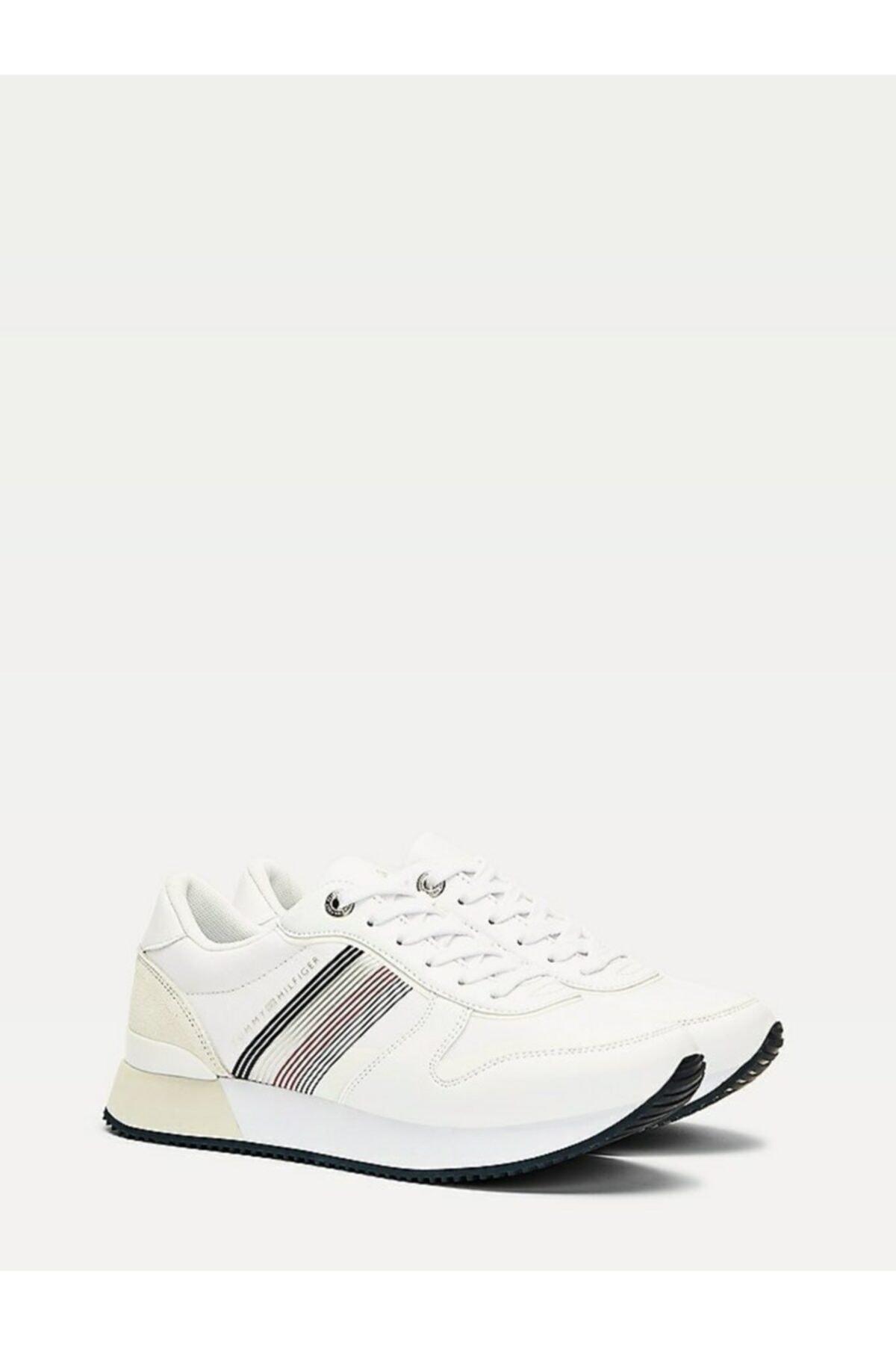 Tommy Hilfiger Kadın Beyaz Sneaker Actıve Cıty Sneaker FW0FW05011 1