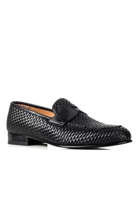 Cabani 88188 Kösele Enj. Meşin Astar Ayakkabı-siyah Antik