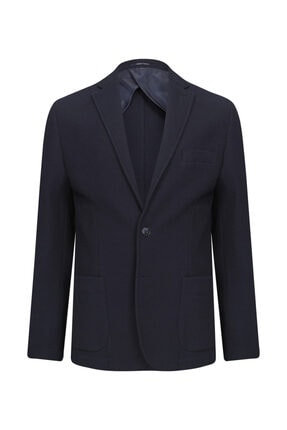 W Collection Lacivert Örme Blazer