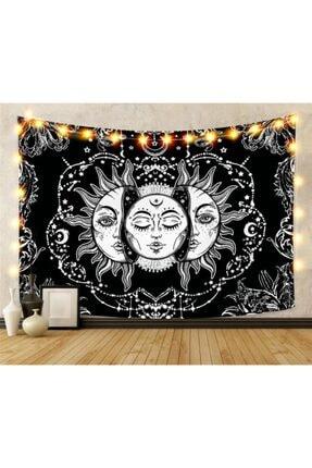 Trendiz Siyah Sun And Moon Duvar Halısı W20035