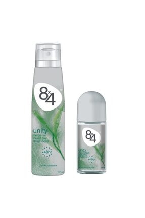 8x4 Unıty Kadın Deodorant 150ml + Roll On 50 ml