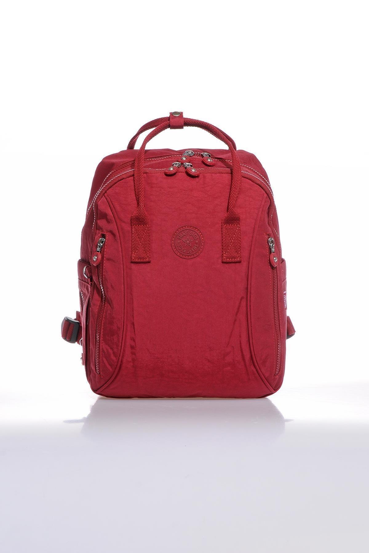 SMART BAGS Smb1220-0021 Bordo Kadın Sırt Çantası 1