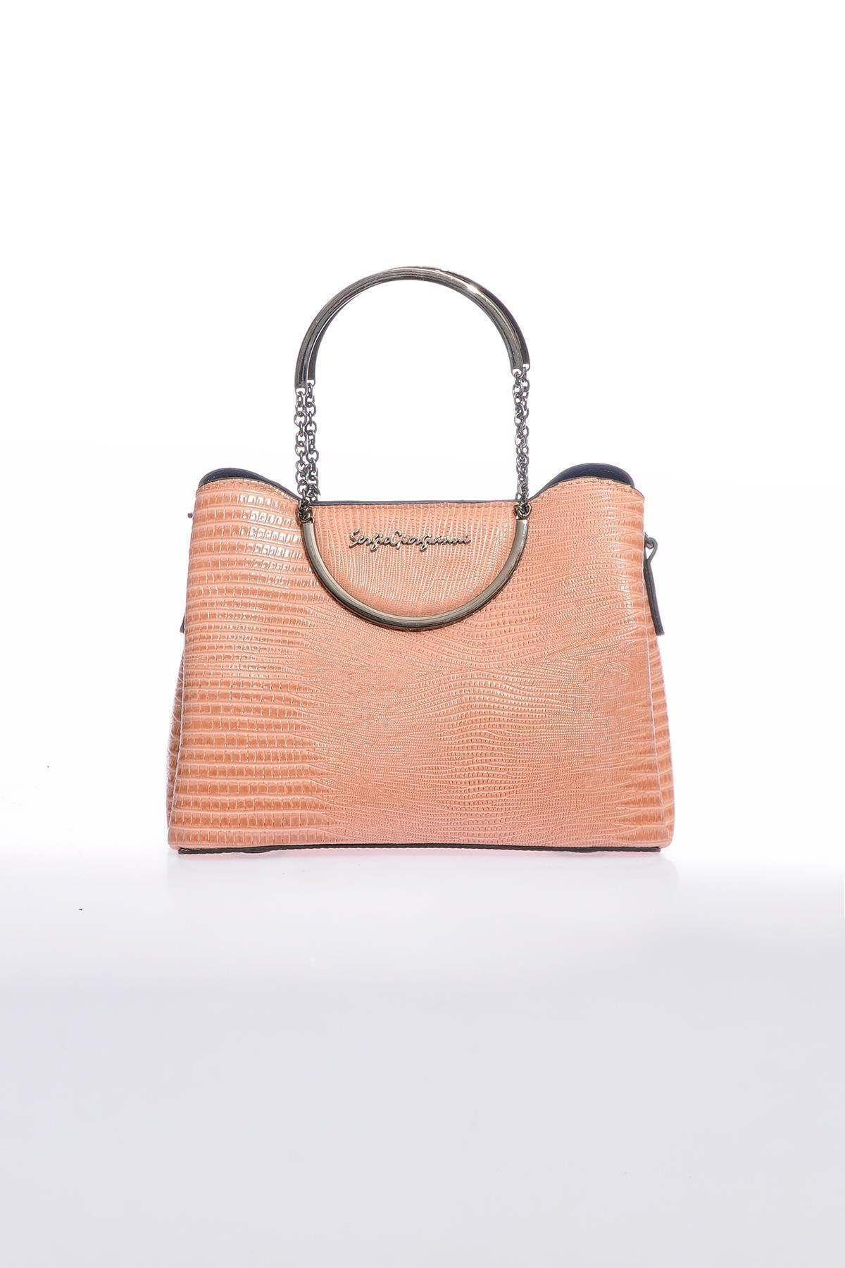 Sergio Giorgianni Luxury Sg0715 Pudra Kadın Omuz Çantası 1