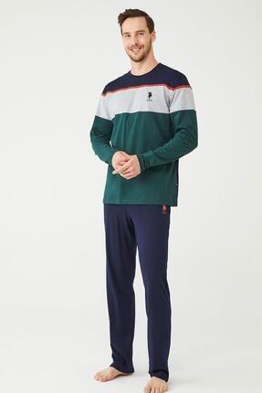 U.S POLO U.s. Polo Assn. Erkek Yuvarlak Yaka Pijama Takımı 18380
